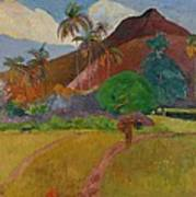 Tahitian Landscape Print by Paul Gauguin