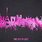 The City Of Love Print by Aged Pixel