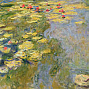 The Waterlily Pond Print by Claude Monet