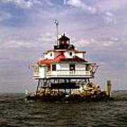 Thomas Point Shoal Lighthouse Print by Skip Willits