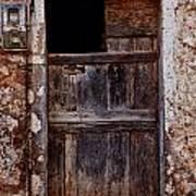Traditional Door Print by Emmanouil Klimis