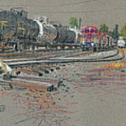 Train's Coming Print by Donald Maier