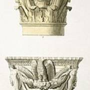 Two Column Capitals Print by .