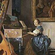 Vermeer, Johannes 1632-1675. A Young Print by Everett