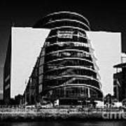 View Of The River Liffey And The Convention Centre Dublin Republic Of Ireland Print by Joe Fox