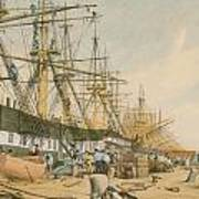 West India Docks From The South East Print by William Parrot