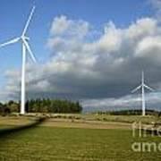 Windturbines Print by Bernard Jaubert