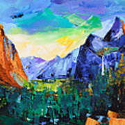 Yosemite Valley - Tunnel View Print by Elise Palmigiani