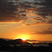 Sunset. Print by Joyce Woodhouse