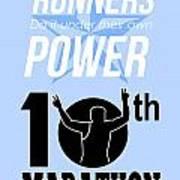 10th Marathon Race Poster  Print by Aloysius Patrimonio