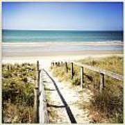Beach Print by Les Cunliffe