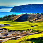 #14 At Chambers Bay Golf Course - Location Of The 2015 U.s. Open Tournament Print by David Patterson