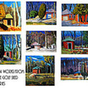 14 Works From The Golf Shed Series Print by Charlie Spear
