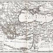1780 Raynal And Bonne Map Of Turkey In Europe And Asia Print by Paul Fearn