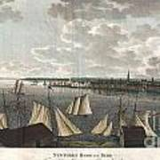 1824 Klinkowstrom View Of New York City From Brooklyn  Print by Paul Fearn