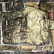 1845 Republic Of Texas - Carved In Stone Print by Ella Kaye Dickey