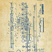 1908 Flute Patent - Vintage Print by Nikki Marie Smith