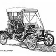 1911 Ford Model T Tin Lizzie Print by Jack Pumphrey