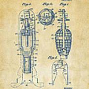 1921 Explosive Missle Patent Vintage Print by Nikki Marie Smith