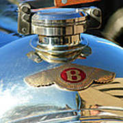 1927 Bentley Hood Ornament Print by Jill Reger