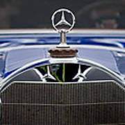1929 Mercedes Benz S Erdmann And Rossi Cabiolet Hood Ornament Print by Jill Reger