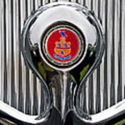 1935 Pierce-arrow 845 Coupe Emblem Print by Jill Reger