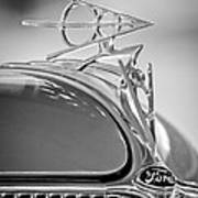 1936 Ford Deluxe Roadster Hood Ornament 2 Print by Jill Reger