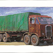 1947 Scammell R8 Print by Mike  Jeffries