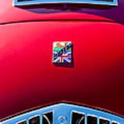 1950 Healey Silverston Sports Roadster Emblem Print by Jill Reger