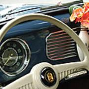 1952 Volkswagen Vw Bug Steering Wheel Print by Jill Reger