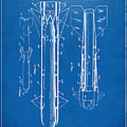 1953 Aerial Missile Patent Blueprint Print by Nikki Marie Smith