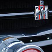 1954 International Harvester R140 Woody Grille Emblem Print by Jill Reger
