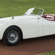 1954 Jaguar Xk120 Roadster  Print by Jill Reger
