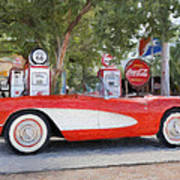 1957 Chevy Corvette Print by Robert Jensen