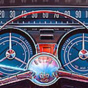 1959 Buick Lesabre Steering Wheel Print by Jill Reger