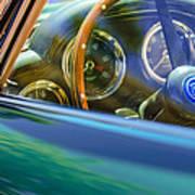 1960 Aston Martin Db4 Series II Steering Wheel Print by Jill Reger