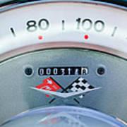 1960 Chevrolet Corvette Speedometer Print by Jill Reger