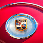1960 Chrysler Imperial Crown Convertible Emblem Print by Jill Reger