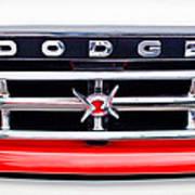 1960 Dodge Truck Grille Emblem Print by Jill Reger