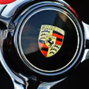 1960 Porsche 356 B Roadster Steering Wheel Emblem Print by Jill Reger