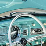 1962 Volkswagen Vw Beetle Cabriolet Steering Wheel Print by Jill Reger