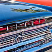 1963 Ford Galaxie 500xl Taillight Emblem Print by Jill Reger
