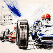 1965 Grand Prix De Paris Print by Georgia Fowler