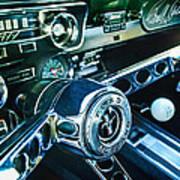 1965 Shelby Prototype Ford Mustang Steering Wheel Emblem 2 Print by Jill Reger