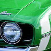 1969 Chevrolet Camaro Ss Headlight Emblems Print by Jill Reger