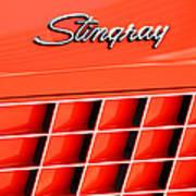 1972 Chevrolet Corvette Stingray Emblem 3 Print by Jill Reger