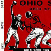 1979 Ohio State Vs Wisconsin Football Ticket Print by David Patterson
