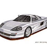 1991 Mercedes Benz C 112 Concept Print by Jack Pumphrey