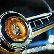 1949 Plymouth P-18 Special Deluxe Convertible Steering Wheel Emblem Print by Jill Reger