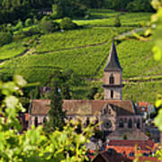 Alsace Church Print by Brian Jannsen